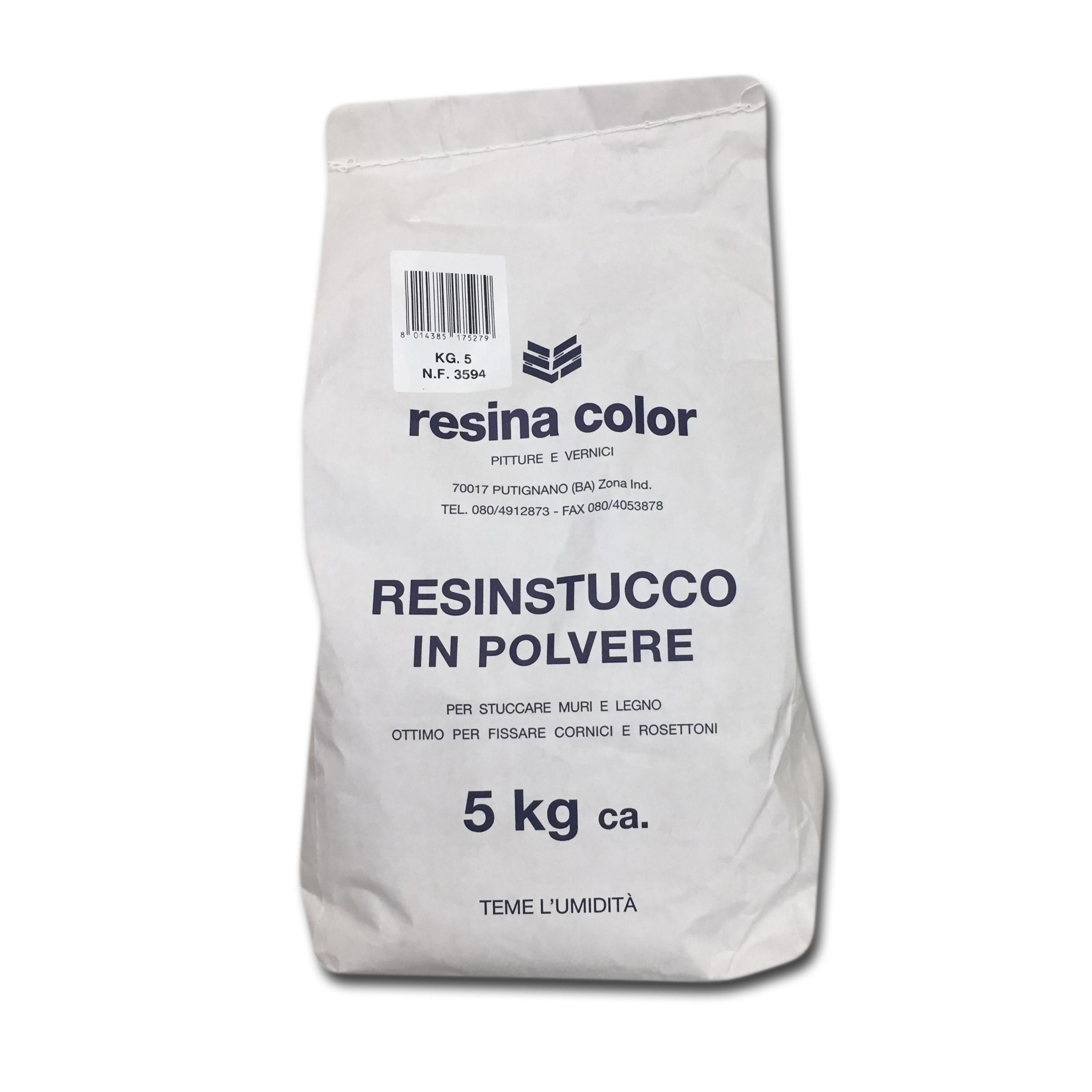 Stucco Per Piano Cottura stucco in polvere 5 kg resina color