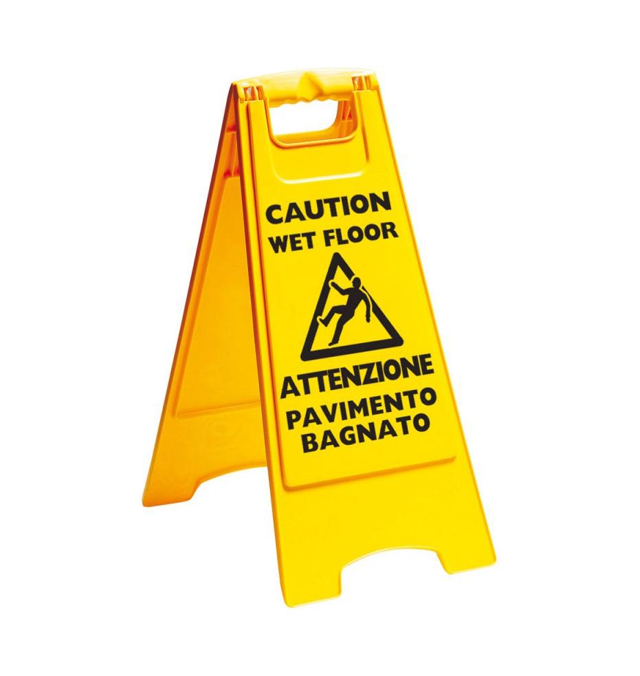 Pulizia della casa bricocasa - Segnale pavimento bagnato ...