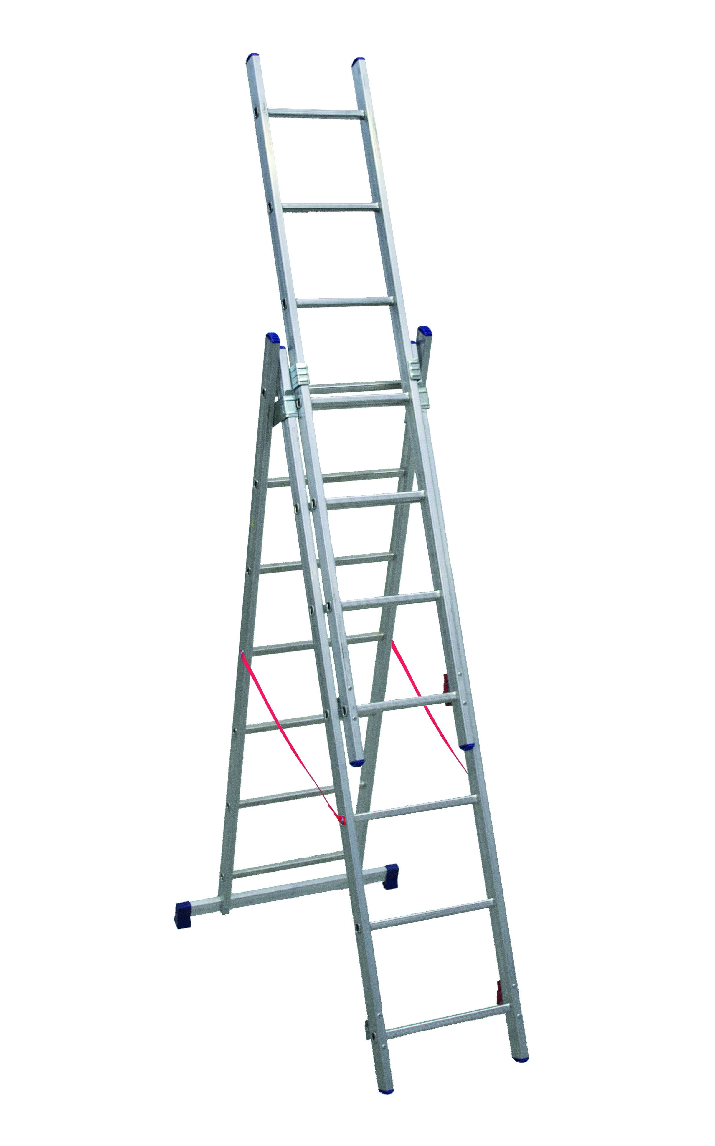 Altezza Gradini Scala scala telescopica in alluminio facal euro stilo 3 rampe per 7 gradini  sl200-3