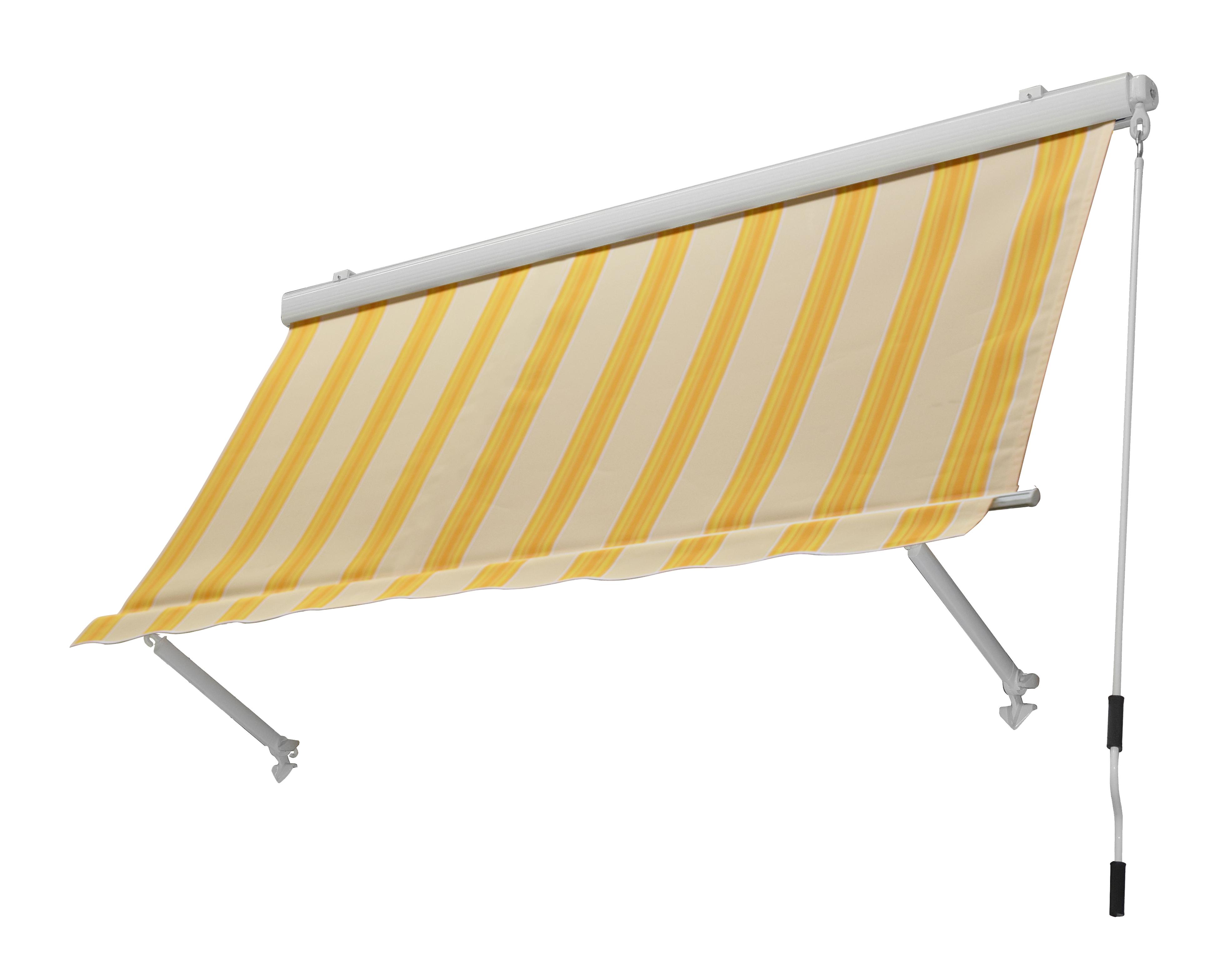 Tenda Da Sole 250x250cm Cassonata Beige Giallo Bricocasa