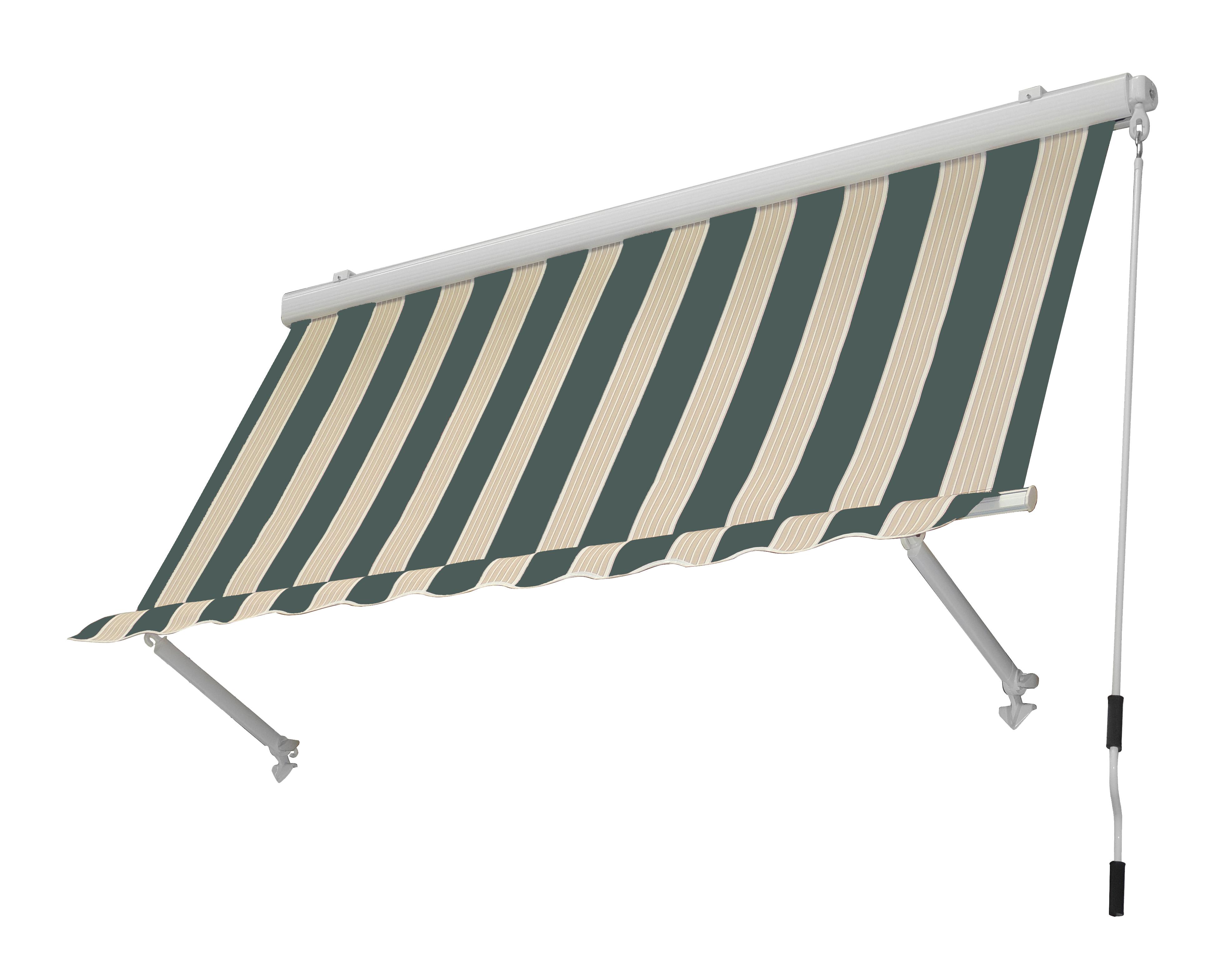 Tenda Da Sole 300x250cm Cassonata Beige Verde Bricocasa