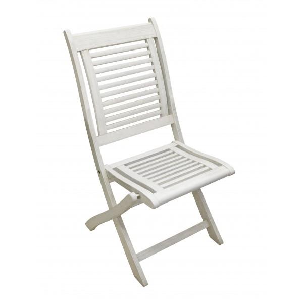 Sedie Da Esterno Legno.Sedia Da Esterno In Legno Pieghevole Senza Braccioli Colore Bianco