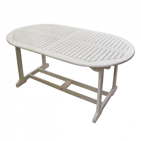 Tavolo Da Giardino Martinica Legno Bianco 180 240 X 100 X 72 Cm Bricocasa