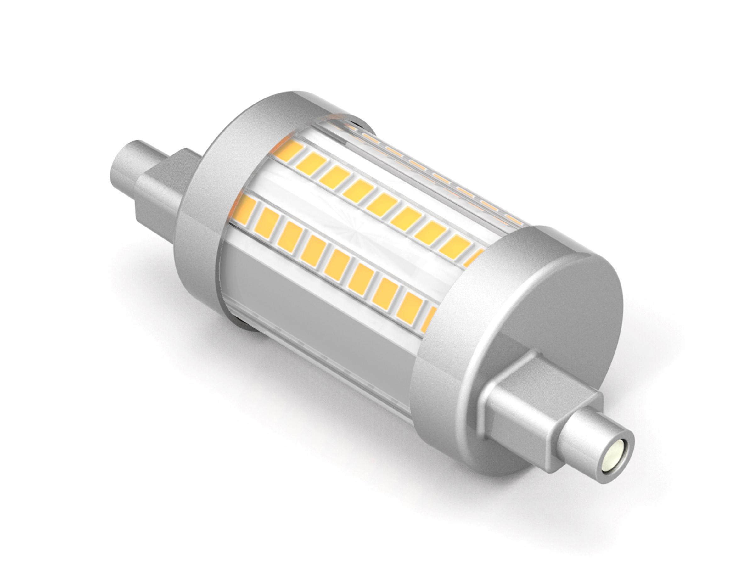Lampadina led lineare a 8 w r7s luce calda bricocasa for Led luce calda