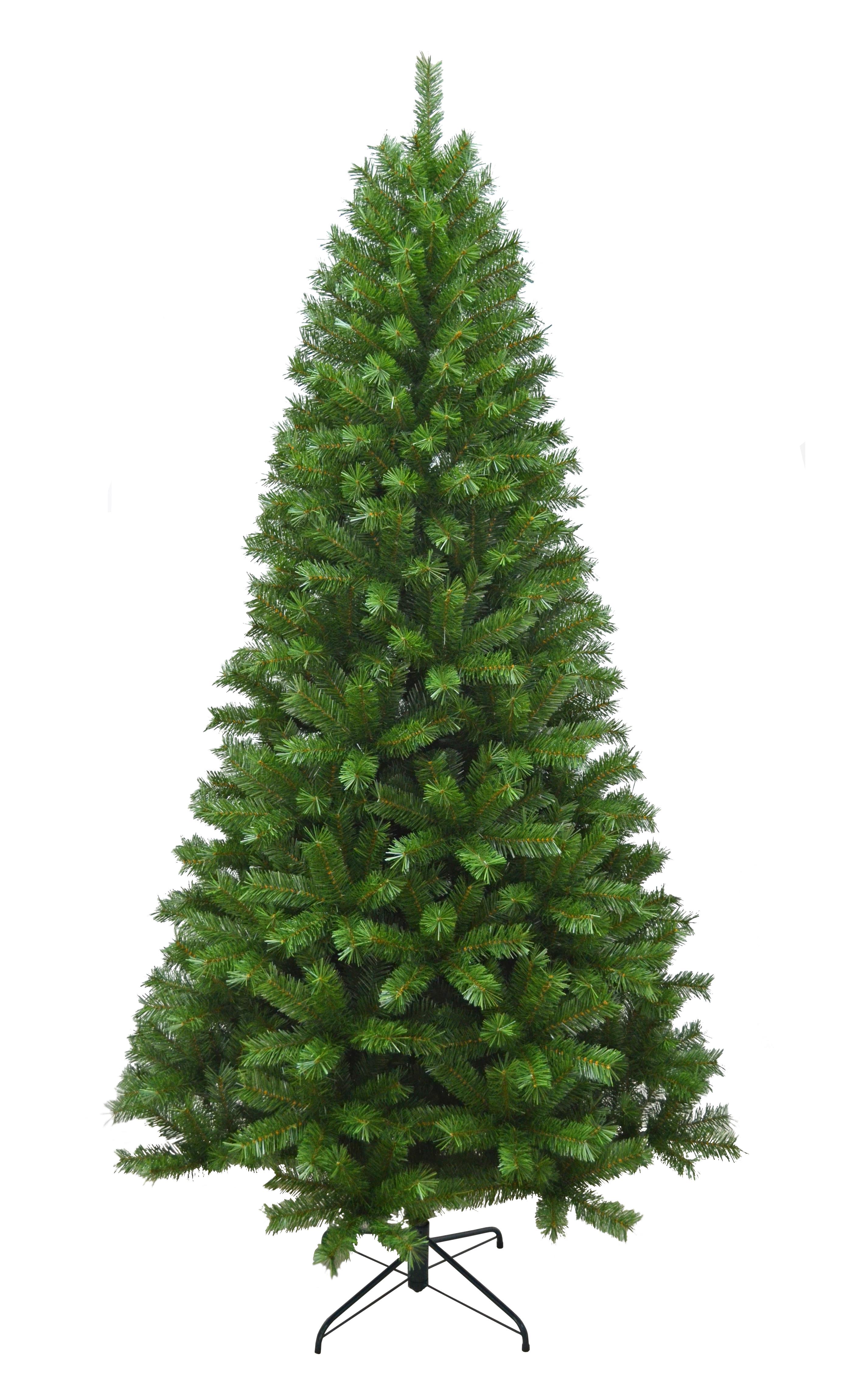 Albero Di Natale Slim 210.Albero Di Natale Tudal Slim H 210 Cm 1000 Rami Colore Verde Bricocasa