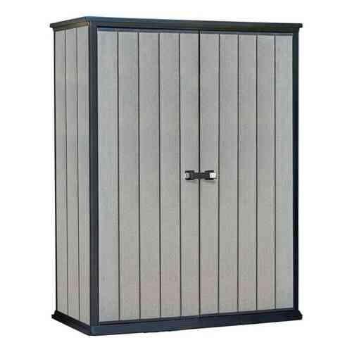 Armadio Da Esterno Resina.Armadio Porta Attrezzi Da Esterno In Resina Keter High Store K225524 Grigio
