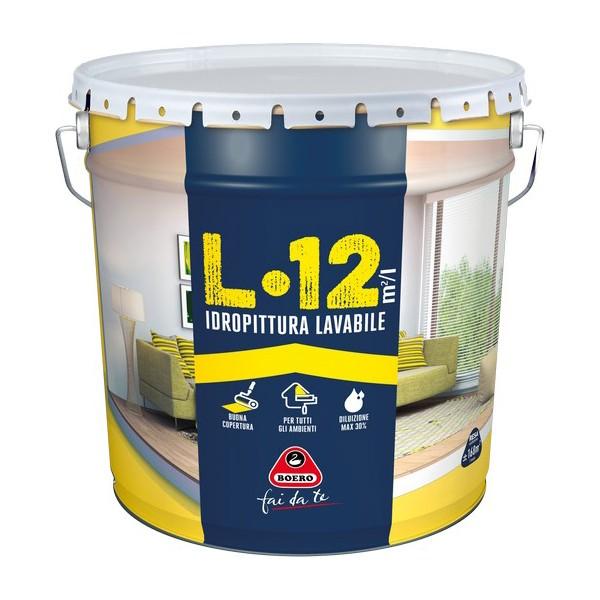 Pittura Per Interni Boero.Idropittura Lavabile Traspirante Per Interni L 12 Boero 14 Lt Litri Bricocasa