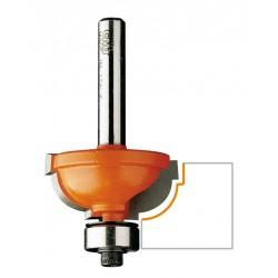 Fresa rotante con rivestimento Black-Tec HP-7 forma sferica Karnasch VHM /Ø = 2-25 mm