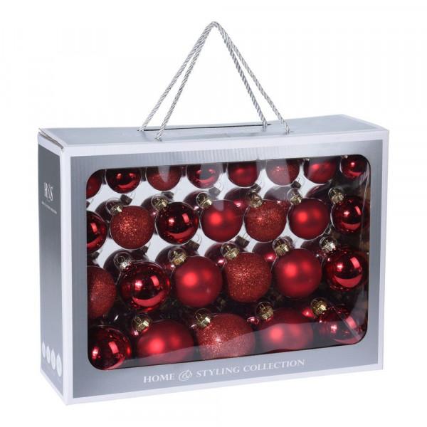 Addobbi Albero Natale.Palle Di Natale 52 Palle Per Addobbi Albero Di Natale Colore Rosso Bricocasa